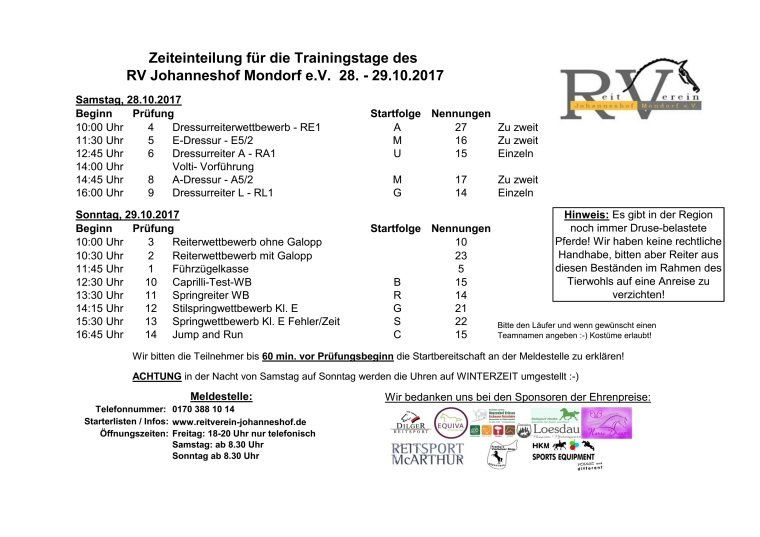 Johanneshofer_Trainingstage_ Zeiteinteilung_Oktober2017