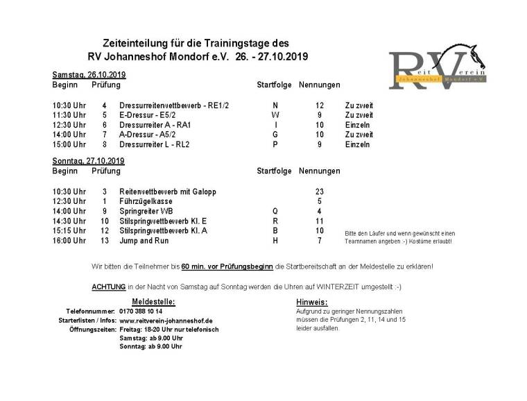 Johanneshofer_Trainingstage_ Zeiteinteilung_Oktober2019